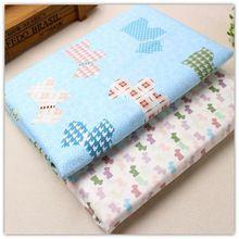1556207, 50 cm * 150 cm mix 2 cartoon cor da série tecido de algodão, Diy handmade patchwork pano de algodão, Têxtil de casa(China (Mainland))