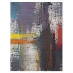 "Canvas wall art with an abstract design.  Product: Wall artConstruction Material: CanvasDimensions: Medium: 24"" H x 18"" WLarge: 32"" H x 24"" W"