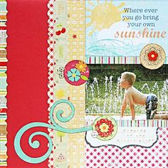 Monthly Scrapbooking Layout Kit Club at The ScrapRoom - www.scrap-room.com