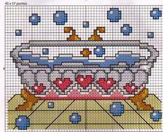 **Blog Amor Perfeito** Gráficos de ponto cruz: Tudo para higiene pessaol