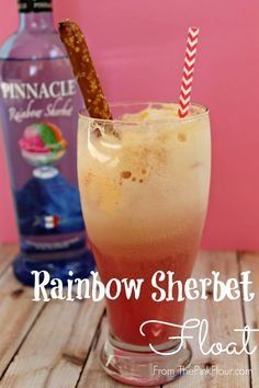 Rainbow Sherbet Float from The Pink Flour