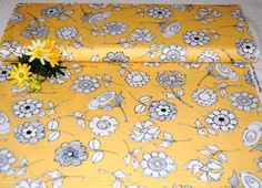 "Loralie Designs - ""Bee Happy""! Paper Posies Yellow Fabric BTY by AllenHeart on Etsy"