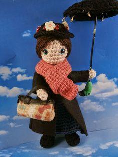 Mary Poppins amigurumi : inspiracion✿⊱╮Teresa Restegui http://www.pinterest.com/teretegui/✿⊱╮