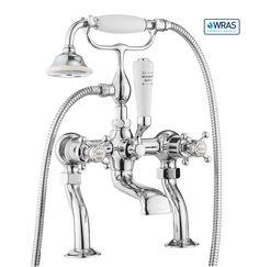 Belgravia Crosshead bath shower mixer with kit - Chrome in Belgravia Crosshead Chrome | Luxury bathrooms, bathroom design ideas, designer bathrooms