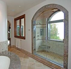 Mediterranean Bathroom Shower Bench Design, Pictures, Remodel, Decor and Ideas Modern Small Bathrooms, Dream Bathrooms, Beautiful Bathrooms, Modern Bathroom, Bathroom Ideas, Master Bathroom, Design Bathroom, Bathroom Interior, Style At Home