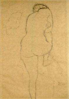 Gustav Klimt Juli 1862 – Februar - Famous Last Words Gustav Klimt, Klimt Art, Life Drawing, Drawing Sketches, Drawings, Figure Painting, Painting & Drawing, Marilyn Monroe Painting, Figure Drawing Reference