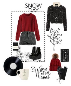 """Snow days"" by gowhereveryoufeelalive on Polyvore featuring Mode, Boohoo, Topshop, Floyd und Falke"
