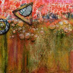 Mixed Media Abstract Painting Movement by Santa Fe Contemporary Artist Sandra Duran Wilson -- Sandra Duran Wilson