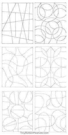 Résultat d'images pour Zentangle Patterns for Beginners Sheets Tangle Doodle, Zen Doodle, Doodle Art, Zentangle Drawings, Doodles Zentangles, Doodle Patterns, Zentangle Patterns, Free Mosaic Patterns, Stylo Art