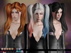Harley Hair  Found in TSR Category 'Female Sims 3 Hairstyles'