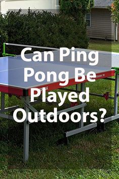 Can Ping Pong Be Played Outdoors? Outdoor Ping Pong Table, Outdoor Play Areas, Playground, Indoor, Outdoors, Outdoor Decor, Fun, Backyard Ideas, Garden