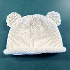 bear hat without sewing ears.
