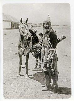 Karbadian, North Caucasus mountains, in armour,  circa 1890's