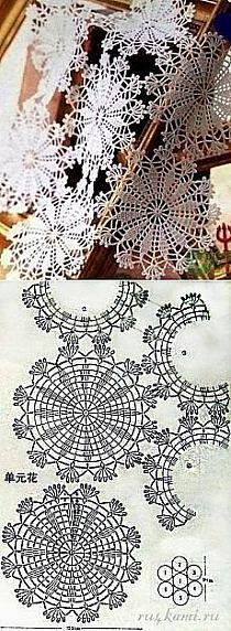 Miniature crochet round doily in white dollhouse by MiniGio Crochet Circles, Crochet Doily Patterns, Crochet Mandala, Crochet Diagram, Crochet Round, Crochet Squares, Crochet Home, Thread Crochet, Filet Crochet