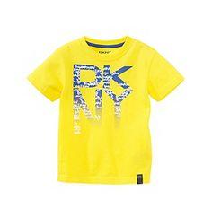 Product: DKNY® Boys' 2T-20 Yellow Short Sleeve New York City Tee