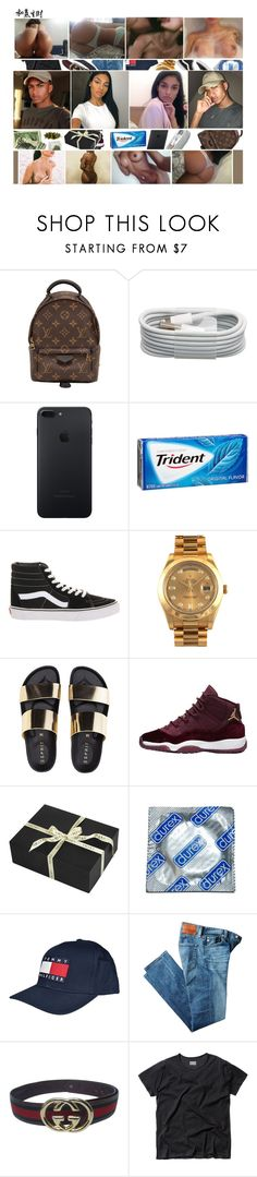 """""""Jaylen"""" by fijixmilf ❤ liked on Polyvore featuring Louis Vuitton, Vans, Rolex, Amara, Tommy Hilfiger, AG Adriano Goldschmied and Gucci"""
