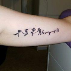 """New BTS """"Love Yourself"""" tattoo I got done last night!"""