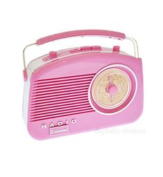 Buy Steepletone Brighton Radio Vintage Style Shabby Chic Retro Radio FM/MW/LW Pink - Topvintagestyle.com ✓ FREE DELIVERY possible on eligible purchases
