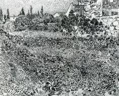 1888 - jardin avec fleurs