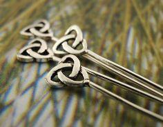 Celtic knot hair pins.