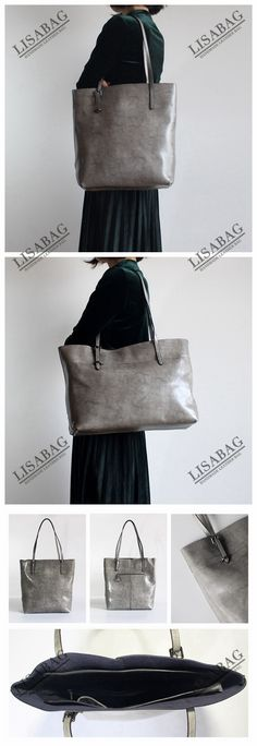 Handmade Women's Fashion Leather Tote Bag Handbag Shoulder Bag Shopper Bag in Gray 14149 Fashion Handbags, Fashion Bags, Women's Fashion, Cheap Fashion, Ladies Fashion, Fashion Styles, Fashion Dresses, Shopper Bag, Tote Bag