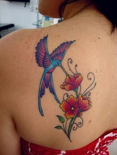 Hummingbird Flower Tattoos, 3d Butterfly Tattoo, Lowrider Tattoo, Beautiful Flower Tattoos, Sister Tattoos, Alcohol Ink Art, Body Art Tattoos, Tatoos, Watercolor Tattoo