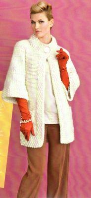 Пальто спицами » Вязание спицами, крючком, схемы вязания