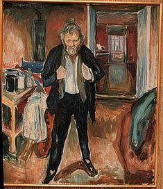 Self-Portrait (in distress), 1919  Edvard Munch