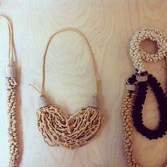 toolshedding/Evgeniya Tsancova's 'Tied' fiber jewelryat Sofia Design Week(photo by Abigail Doan)