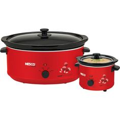 New Slow Cooker Combo Set Red 65quart and15quart crockpot -- ** AMAZON BEST BUY ** #SlowCooker