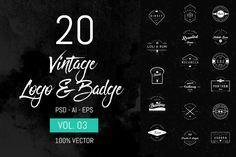 20 Vintage Logo & Badge Vol. 3 - Logos - 1