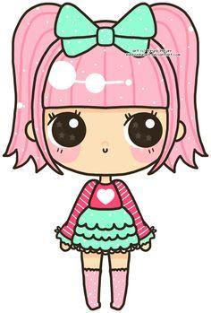 kawaii girl disegni - Cerca con Google