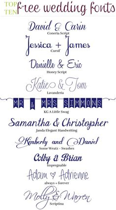 Wedding Fonts 12 Free Fonts For Personal Use
