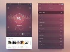 FM Radio UI - iOS 7 App by Olia Gozha