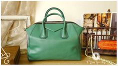 Leather Tote Bag - Shoulder Bag - Handbag - Satchel - Briefcase in Mint Green. $129.00, via Etsy.