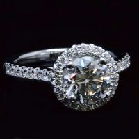 2.13 ct. Round Brilliant Cut Halo Diamond Engagement Ring G, VS2 EGL Certified