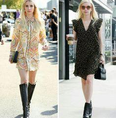 Duas inspirações fashion criativas da Emma Roberts para pequenos eventos e pro dia a dia! 💟️💫 #emmaroberts #creative #fashion #style