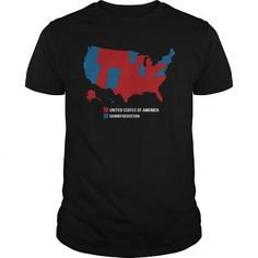 Awesome Tee Election Map USA T shirts