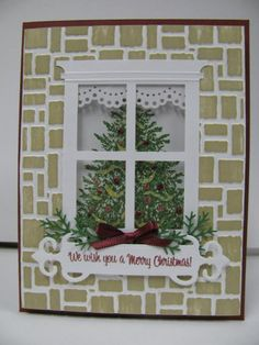 Christmas window by ixfquiller - Cards and Paper Crafts at Splitcoaststampers