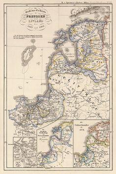 Old map of Latvia   Historic map  16 x 24 Print by AncientShades, $30.00