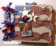 Patriotic Mini Album (from May Arts Ribbon site)...  you should see all the pages; very cute!