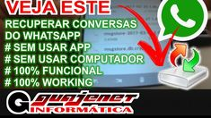 Como recuperar conversas do Whatsapp - Sem Apps e sem PC (100% WORKING)