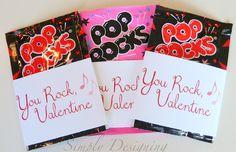 You Rock Valentine {FREE printable}