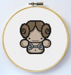 PRINCESS LEIA Cross Stitch Pattern Instant by LaEsquinaDeLuna
