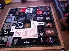 T-Shirt quilt , king size for my brother, 108X106