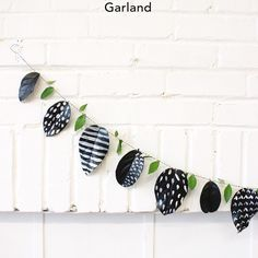DIY- Graphic Pumpkin Vase & Leaf Garland - Babasouk – Camille & I were trying to think of a Halloween decor that we would actually love. We came up with this graphic pumpkin vase and garland idea that adds a little touch of green that fits in our boho decor.