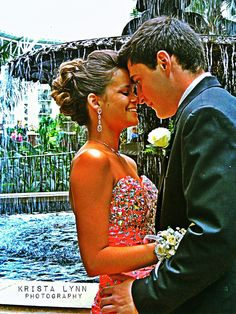 One of my favorite Poses for prom or homecoming. So sweet!