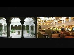 A cloister is a covered walk, open gallery, or open arcade running along the walls of buildings and forming a quadrangle or garth. Open Gallery, Buildings, World, Youtube, The World, Youtubers, Youtube Movies, Peace