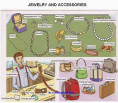 English for beginners: jewelry and accessories