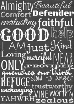 FREE Alphabetical Attributes of God Printable! So cute for a kids room or play room! Super encouraging for an office or craft room!